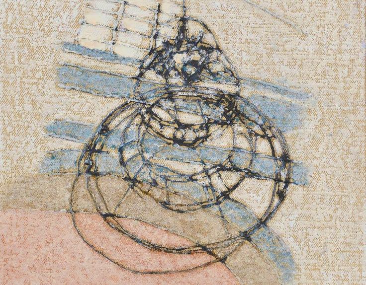 Piero Zuccaro Interno incerto e oscillante, 2019, pastello a olio su tela, cm 40x30.jpeg